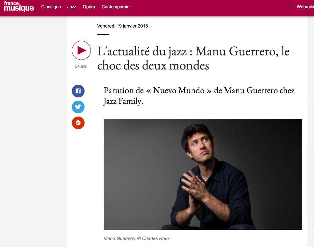 France Musique : Manu Guerrero